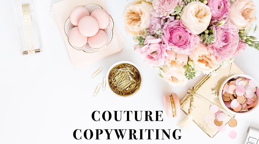 couture copywriting header
