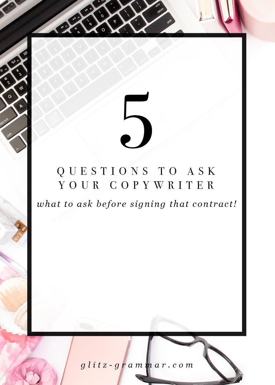 5 questions to ask your copywriter, everything you should ask before signing that contract + a free printable checklist!