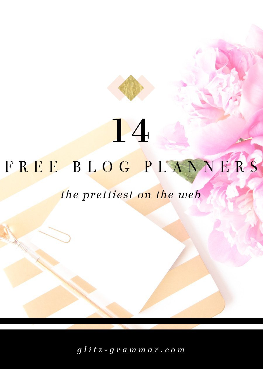 14 free blog planners