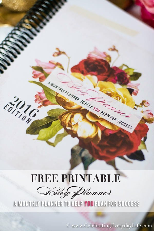 2016 free blog planner