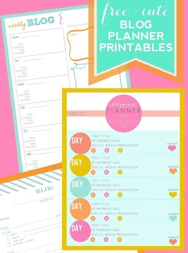 FREE-+-Cute-Blog-Planner-Printables