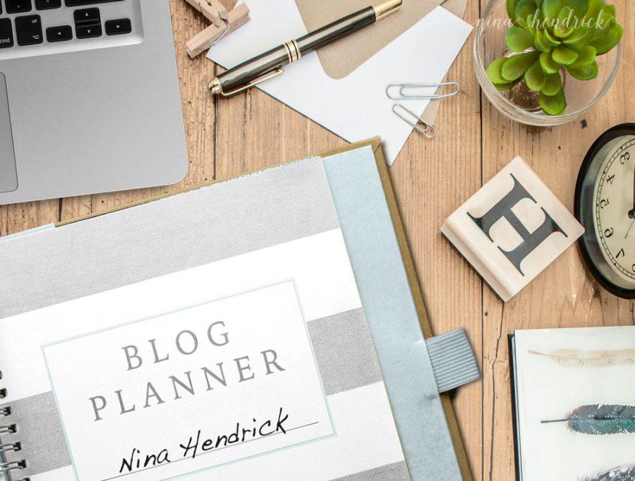 nina hendrick free blog planner