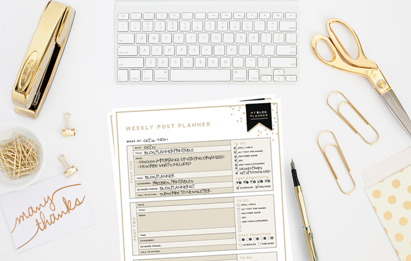 free printable blog planner designer blogs