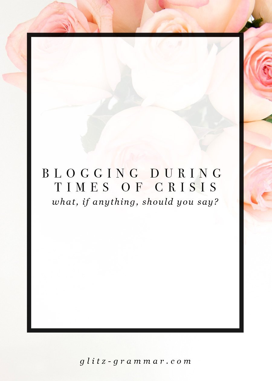 blogging during crisis