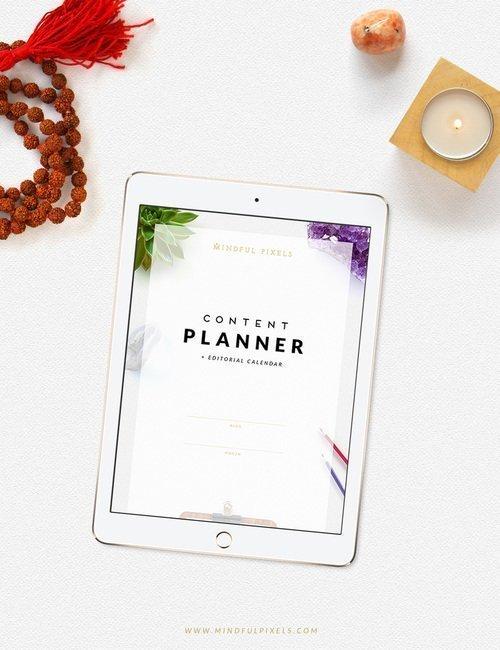 free a5 blog planner mindful pixels