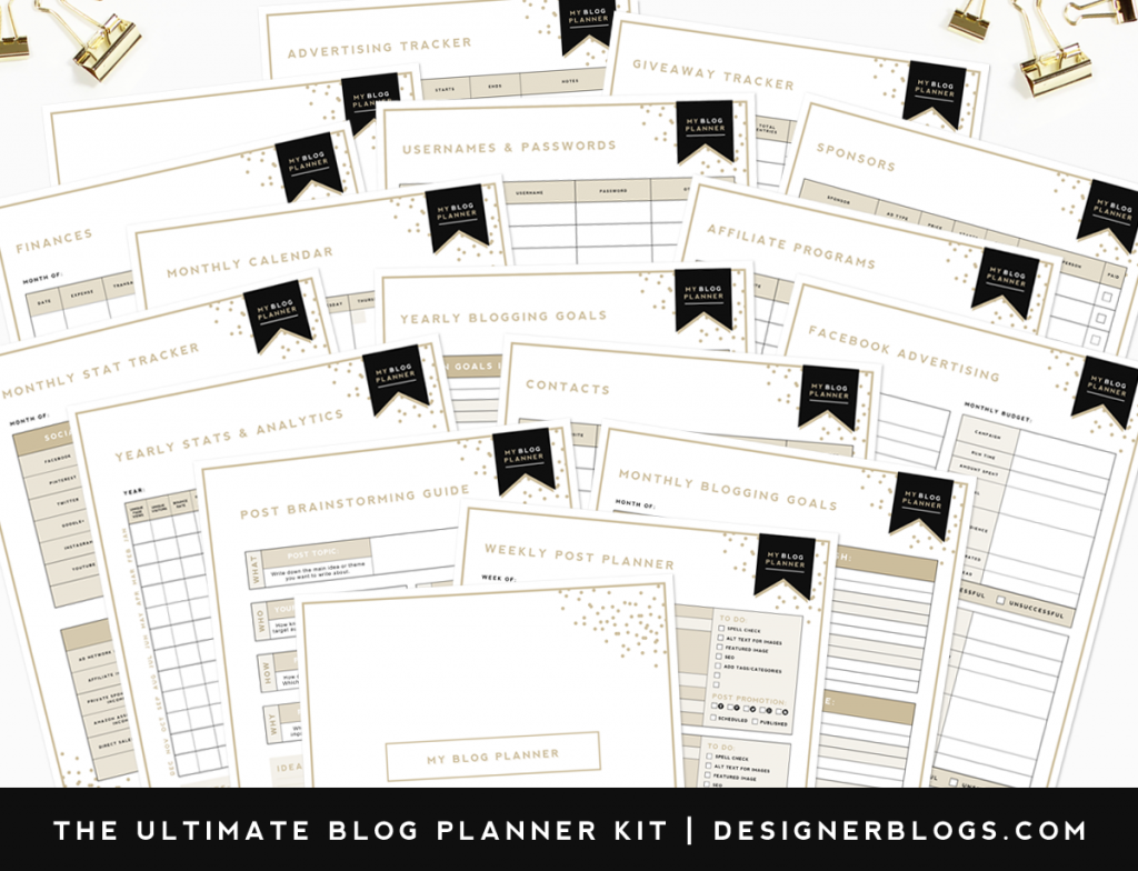 free blog planner designer blogs