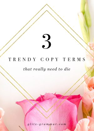trendy copywriting terms