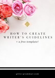 writers guidelines template
