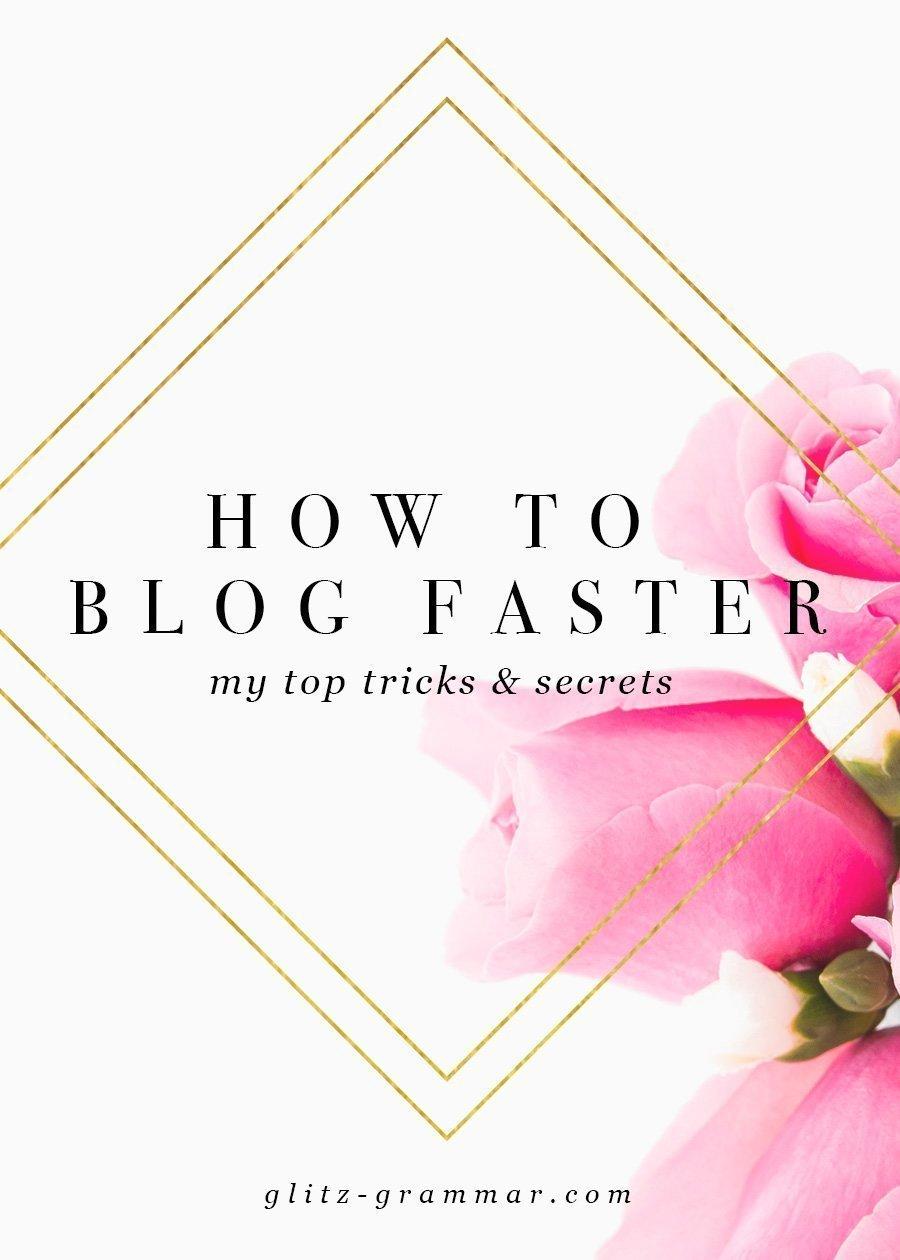 blog faster tricks