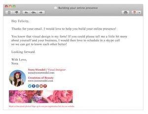 email signature stock photo