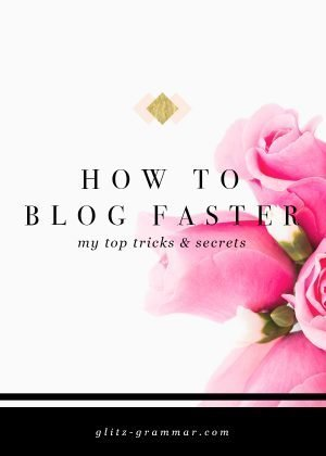 how to blog faster