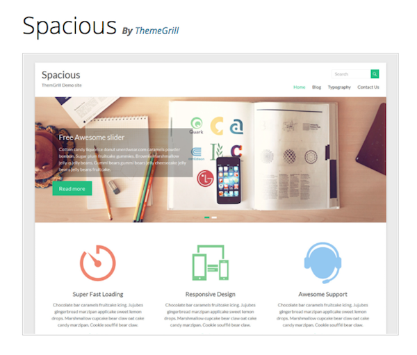 spacious wordpress theme