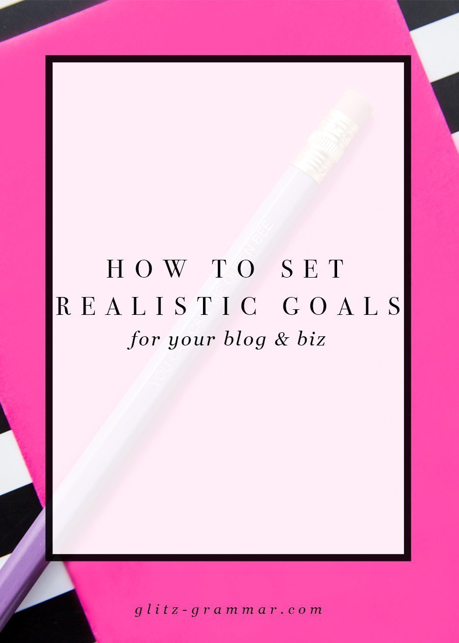 how to set realistic goals for your blog and business. The key to goal setting to set yourself up for success and avoid that feeling of defeat! Click to read these 4 goal setting secrets.