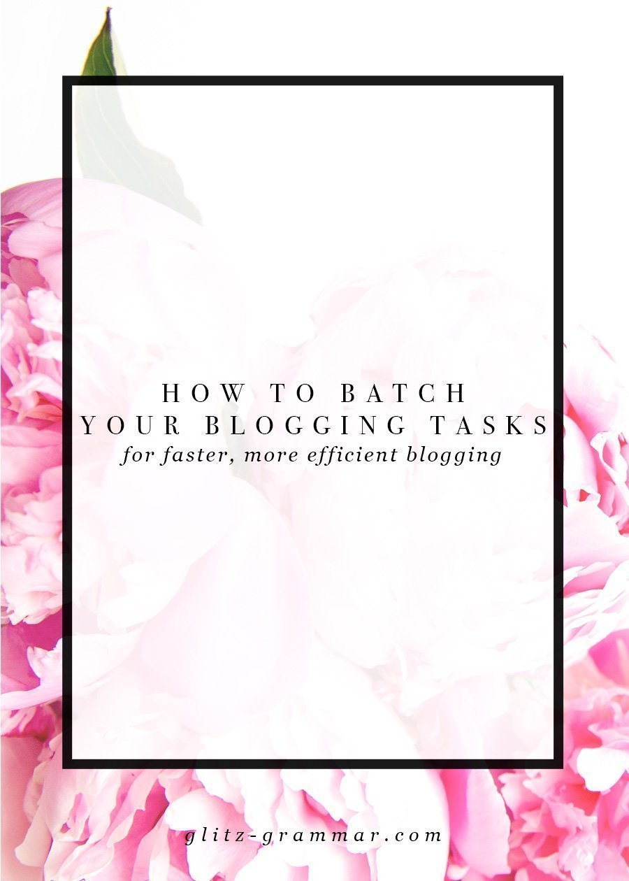 How to batch your blogging tasks for faster blogging! Learn how this can save you time blogging and make you more efficient. Click to read all of the tips in the post