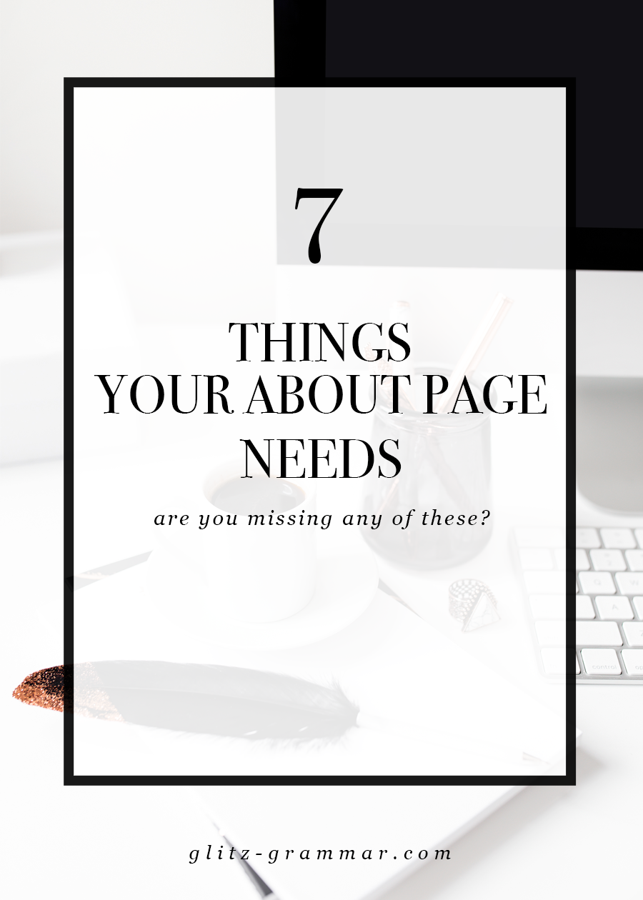 7 things your blog about page needs